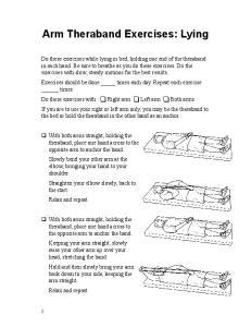 Arm Theraband Exercises: Lying