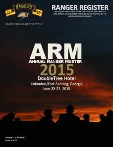 ARM. Volume XXII, Number 1 Summer 2015