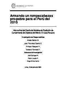 Armando un rompecabezas pro-pobre para el Perú del 2015