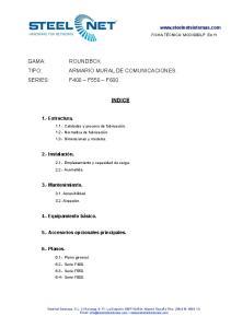 ARMARIO MURAL DE COMUNICACIONES. INDICE