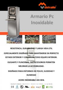 Armario Pc Inoxidable
