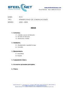 ARMARIO-RACK DE COMUNICACIONES. INDICE
