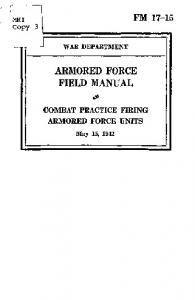 ARMORED FORCE FIELD MANUAL