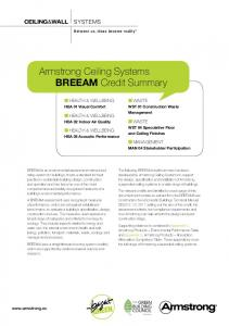 Armstrong Ceiling Systems BREEAM Credit Summary