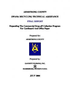 ARMSTRONG COUNTY SWANA RECYCLING TECHNICAL ASSISTANCE FINAL REPORT