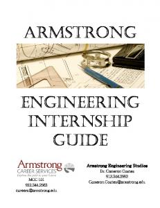 ARMSTRONG ENGINEERING INTERNSHIP GUIDE