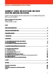 ARMUT UND REICHTUM IN DER RHEIN-MAIN-REGION