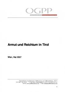 Armut und Reichtum in Tirol