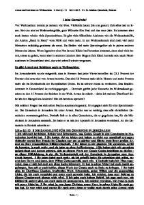 Armut und Reichtum zu Weihnachten 2. Kor 8, Ev. St.-Markus-Gemeinde, Bremen 1