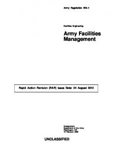 Army Facilities Management