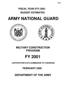 ARMY NATIONAL GUARD FY 2001