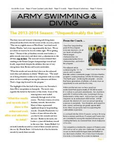 ARMY SWIMMING & DIVING