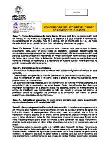 ARNEDO AYUNTAMIENTO CONCURSO DE RELATO BREVE CIUDAD DE ARNEDO BASES