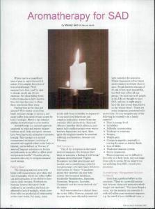 Aromatherapy for SAD