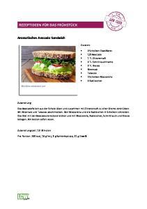 Aromatisches Avocado-Sandwich