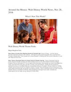 Around the Mouse: Walt Disney World News, Nov 28, 2016