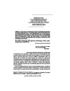 ARQUEOLOGÍA Y LA GEOMETRÍA FRACTAL. UNA CONJUNCIÓN PARA LA INVESTIGACIÓN DEL PASADO