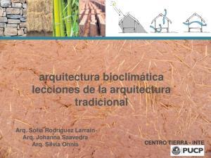 arquitectura bioclimática lecciones de la arquitectura tradicional