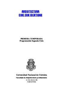 ARQUITECTURA CINE CON IDENTIDAD