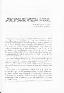 ARQUITECTURA CONTEMPORANEA EN BURGOS (LA CASA DE VIVIENDAS Y EL TEATRO-CINE AVENIDA)