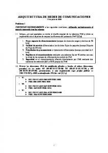 ARQUITECTURA DE REDES DE COMUNICACIONES 17 de junio de 2008