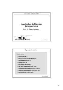 Arquitectura de Sistemas Computacionais