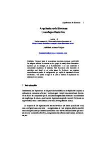 Arquitectura de Sistemas: Un enfoque Evolutivo