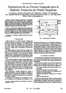 Arquitectura de un Circuito Integrado para la