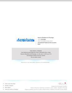 Arquivos Brasileiros de Psicologia ISSN: Universidade Federal do Rio de Janeiro Brasil
