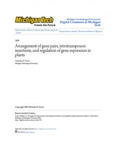 Arrangement of gene pairs, retrotransposon insertions, and regulation of gene expression in plants