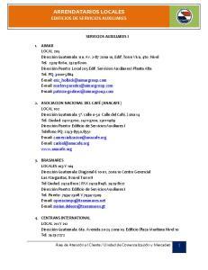ARRENDATARIOS LOCALES EDIFICIOS DE SERVICIOS AUXILIARES