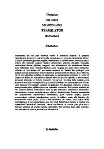ARS MAIOR ARS GRAMMATICA TRANSLATOR