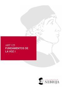 ART 125 FUNDAMENTOS DE LA VOZ I