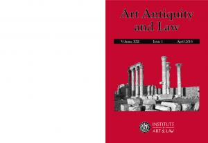 Art Antiquity and Law