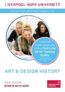 ART & DESIGN HISTORY