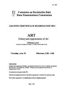 ART History and Appreciation of Art