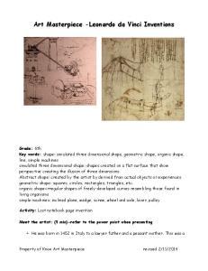 Art Masterpiece -Leonardo da Vinci Inventions