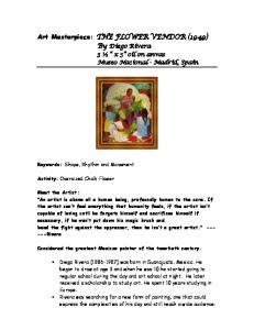 Art Masterpiece: THE FLOWER VENDOR (1949) By Diego Rivera