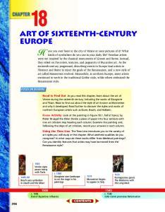 Art of Sixteenth-Century Europe