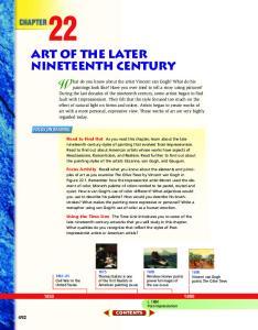 Art of the Later Nineteenth Century