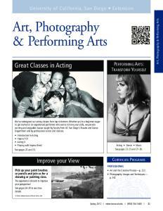 Art, Photography & Performing Arts