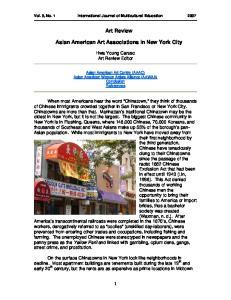 Art Review. Asian American Art Associations in New York City
