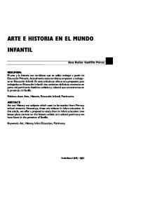 ARTE E HISTORIA EN EL MUNDO INFANTIL