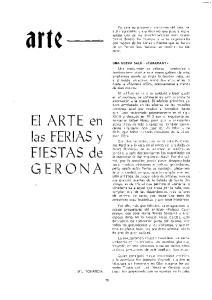 arte El ARTE en las FERIAS y FIESTAS de GERONA
