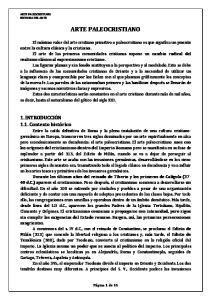 ARTE PALEOCRISTIANO. 1. INTRODUCCIÓN 1.1. Contexto histórico