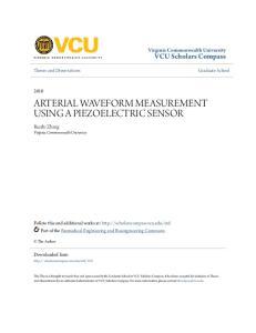 ARTERIAL WAVEFORM MEASUREMENT USING A PIEZOELECTRIC SENSOR