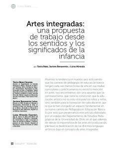 Artes integradas: una propuesta de trabajo desde los sentidos y los significados de la infancia