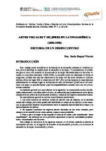 ARTES VISUALES Y MUJERES EN LATINOAMÉRICA ( ) HISTORIA DE UN DESENCUENTRO