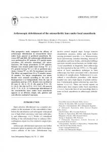 Arthroscopic debridement of the osteoarthritic knee under local anaesthesia
