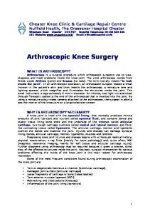 Arthroscopic Knee Surgery